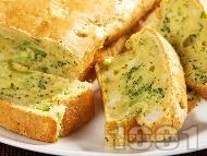 Рецепта Солен кекс с броколи и карфиол